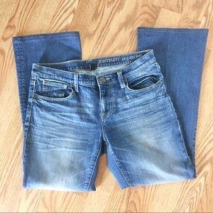 Gap Premium Long And Lean Jeans Distressed Color